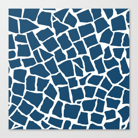 Mosaic Zoom Navy Canvas Print