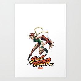 Street Fighter Cammy Art Print
