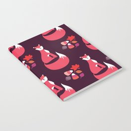 Foxes In Fall - Red Notebook