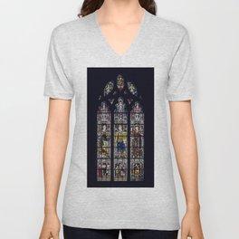 Good Knight Stained Glass Window Stratford Upon Avon England Unisex V-Neck