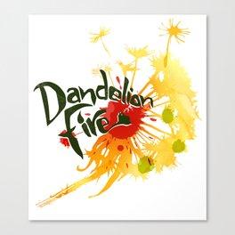 Dandelion Fire Canvas Print