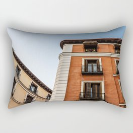 Madrid Old Buildings Rectangular Pillow