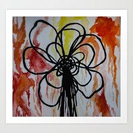 line flower drip Art Print