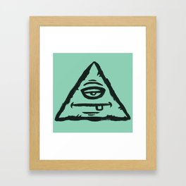 Triangle by Caleb Croy Framed Art Print