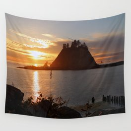 An Amazing Sunset Over First Beach Wall Tapestry