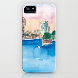 Fort Lauderdale Skyline Sunset In Florida iPhone Case