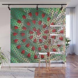 Strawberry vortex Wall Mural