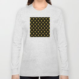 Dry Martini Gold and Black Art Deco Pattern Long Sleeve T-shirt