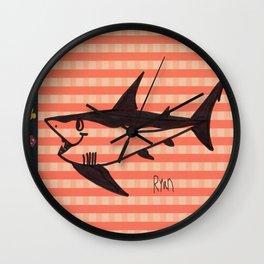 Shark Flag Wall Clock