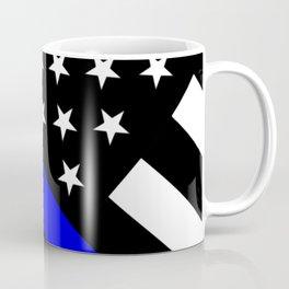 Police Flag: The Thin Blue Line Coffee Mug