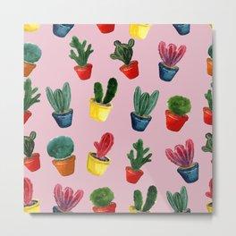 Cacti flower background Metal Print