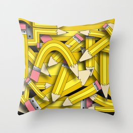 Pencil Stack Throw Pillow