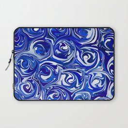 China Blue Paint Swirls Laptop Sleeve