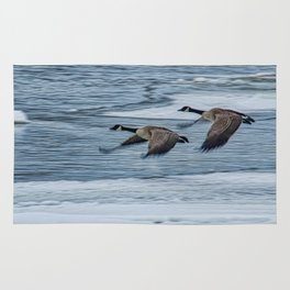 Canada Geese Flying X Rug
