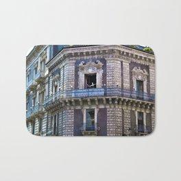 Sicilian facade of Baroque in Catania  Bath Mat