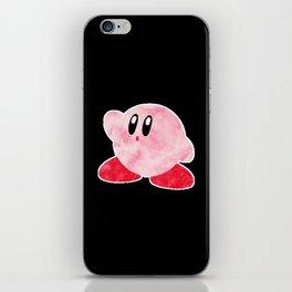 Watercolour Kirby iPhone Skin