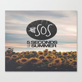 5 seconds of summer sunflowers Canvas Print