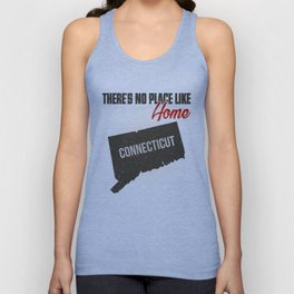 No place like home - Connecticut Unisex Tank Top