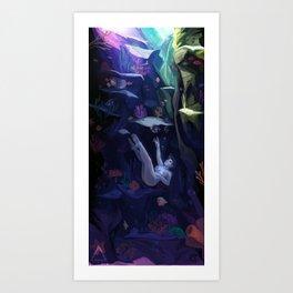 The Rabbithole Art Print