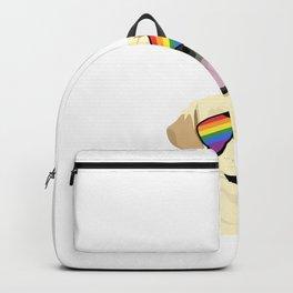 Rainbow flag funny Goldi Gay Lesbian gift Backpack