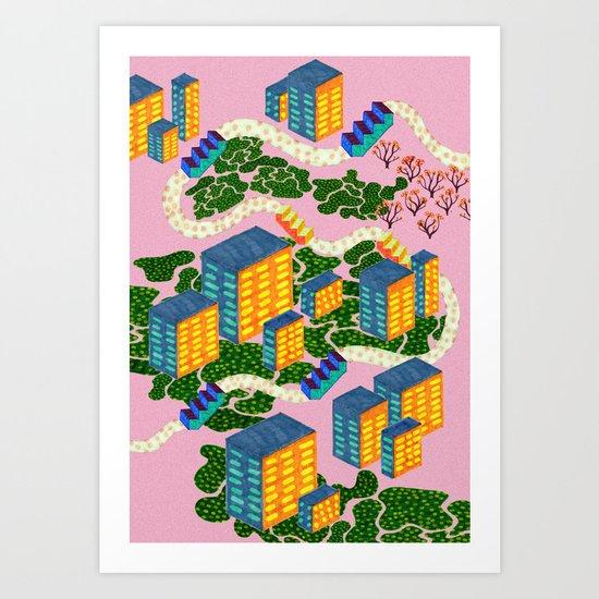 Höghus Art Print
