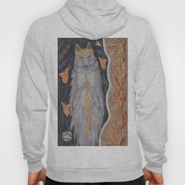 Wolf and flower crown Hoody