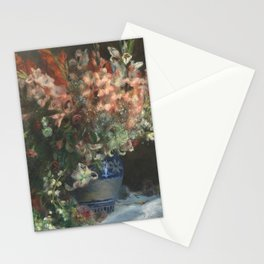 Gladioli in a Vase by Renoir Stationery Cards