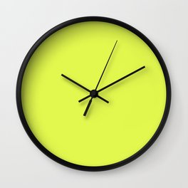 lime yellow Wall Clock