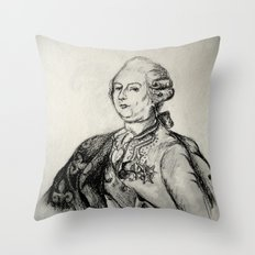 French Sketch III Throw Pillow