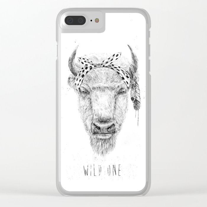Wild one Clear iPhone Case