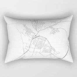 Minimal City Maps - Map Of Borisov, Belarus. Rectangular Pillow
