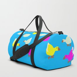 Cute Geese and Clouds Duffle Bag