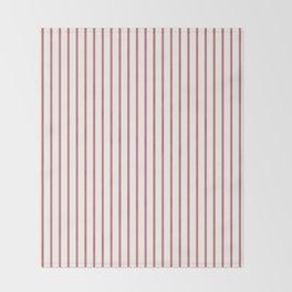 Camellia Pink Pinstripe on White Throw Blanket