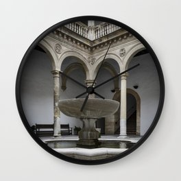 Spanish Patio with Moorish Fountain Wall Clock