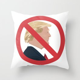 No Trump Sign Throw Pillow