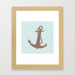 Anchor, sea, nauticl , nursery decor , children gift, birthday gift Framed Art Print