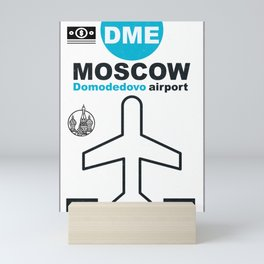 DME  Domodedovo airport code Mini Art Print
