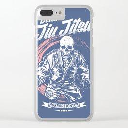 Jiu jitsu Horror Fighter Clear iPhone Case