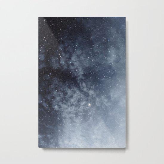 Blue veiled moon Metal Print