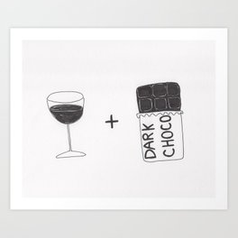 Wine and Chocolate Art Print