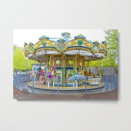 Carousel Ride in Pittsburgh Pennsylvania Metal Print
