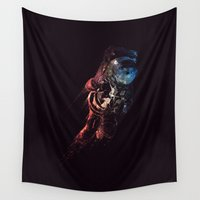 spaceman Wall Tapestries featuring Spaceman by MUSENYO
