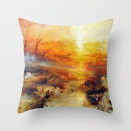 The Slave Ship By JMW Turner Throw Pillow