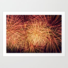 Art of the Fireworks Art Print