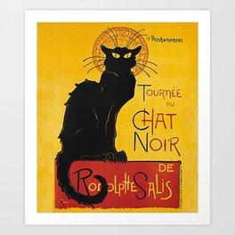 Tournée du Chat noir Art Print