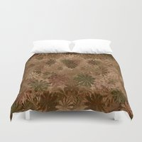 camouflage Duvet Covers featuring Camouflage... by Cherie DeBevoise