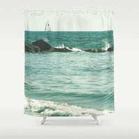 sail Shower Curtains featuring Sail Away, Sail Away. by Amy J Smith Photography