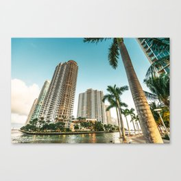 miami beach and downtown Canvas Print