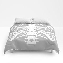 Human Rib Cage Pattern Gray 2 Comforters