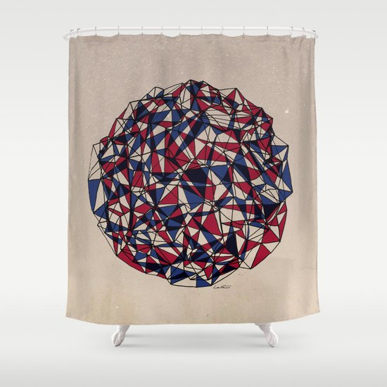 - red blue - Shower Curtain